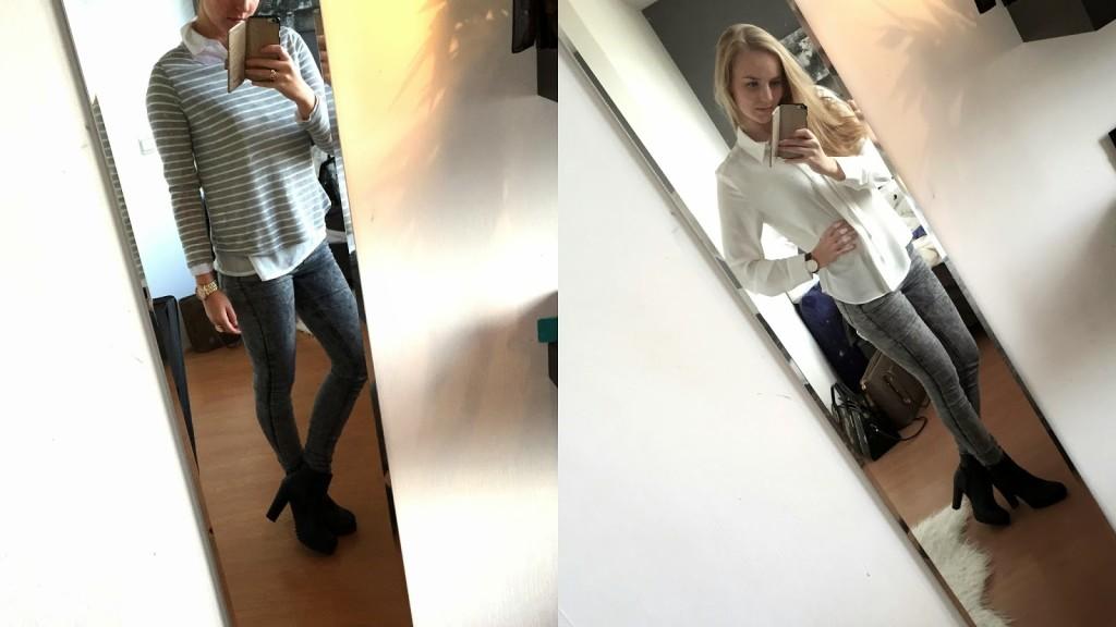 Trui Met Witte Blouse.Vest Beauty By Denies